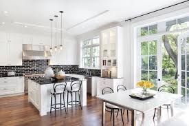 black and white kitchen backsplash white kitchen cabinets with black brick tile backsplash
