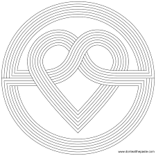 16 geometric heart coloring pages cartoons printable coloring