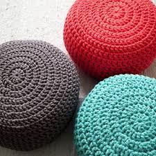 Coral Ottoman Shop Crocheted Pouf Ottoman On Wanelo