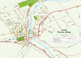 road map of york town map york visitors centre