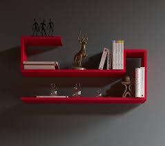 Wohnzimmer Design Rot Airy Wandregal Bücherregal Dekoregal Hängeregal Für