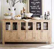 buffet sideboard cabinet storage kitchen hallway table industrial rustic buffet tables sideboards china cabinets pottery barn