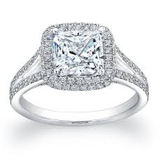 white gold halo engagement rings 18kt pave halo engagement ring with a 2ct