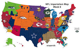 Queens College Map Nfl Imperialism Map Week 0 Nfl
