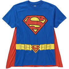 superman men u0027s cape tee walmart com