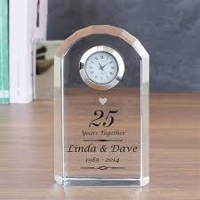anniversary gift ideas pmc1544 silver anniversary clock topup wedding ideas