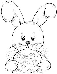 bunny outline printable kids coloring