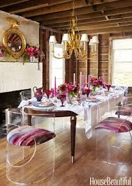 a red and pink tablescape by eddie ross unusual table setting ideas a major renovation didn t stop this glam dinner party