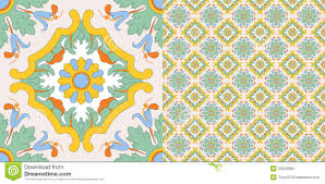Tile Decoration Ceramic Tile Decoration In Old Sicilian Style Royalty Free Stock