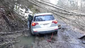 lexus atc vs audi quattro vs acura sh awd getting the mdx pulled from the mud youtube