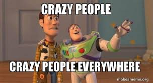 Crazy People Meme - crazy people crazy people everywhere buzz and woody toy story