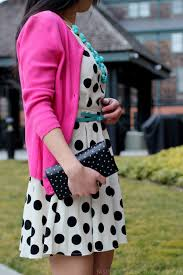 ootd polka dot turquoise and pink fast food u0026 fast fashion