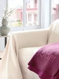 jeté de canape hahn le jeté pour canapé et lit écru naturel