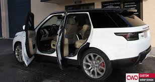 white wrapped cars range rover matte white and gloss black wrap
