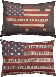 American Flag Home Decor Patriotic American Flag Large Pillow