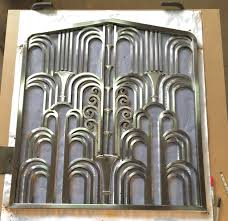art deco stainless steel fireplace screen being prepped t u2026 flickr