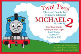 thomas and friends birthday invitations image collections