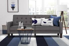 dorel home furnishings paris grey futon with independently encased