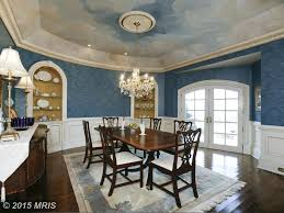 traditional dining room with chandelier u0026 crown molding in