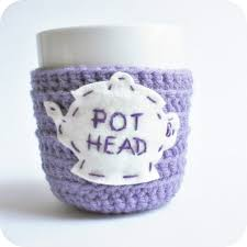 tea cup tea cozy mug cozy cosy funny mug pot head purple
