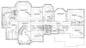 mansion floor plans free custom home design plan 12851