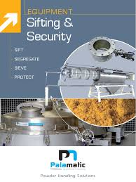 sifting and security palamatic process actuator powder substance