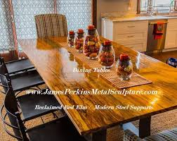 Elm Dining Table Buy A Custom Made Reclaimed Elm Dining Table Made To Order