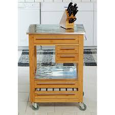 kitchen island stainless top wooden kitchen island with stainless steel top free shipping