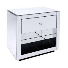 16 Nightstand Worlds Away Farrah Side Table Nightstand Mirrored Furniture