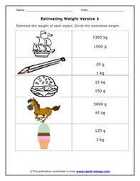 estimate and measure worksheets math and math activities