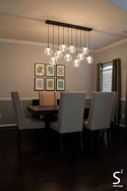glass chandeliers for dining room custom decor linear chandelier