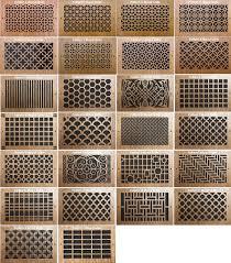 wood wall registers decorative vent