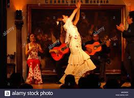 gypsy flamenco dancer at the corral de la morreria madrid spain
