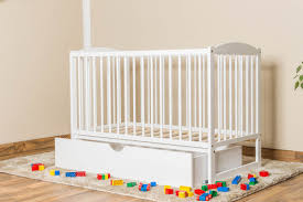Solid Pine Crib Children U0027s Bed Solid Pine Wood 102 In A White Paint Finish