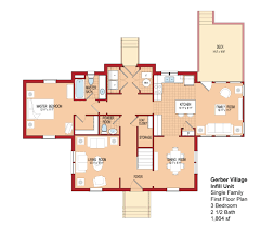 3 Bedroom Floor Plans by Gerber Village E7 E9 The Villages At Belvoir