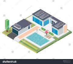 modern luxury isometric green eco friendly stock vector 684931216