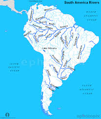 a map of south america south america rivers map rivers map of the south america
