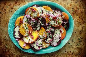 cuisine vegan roasted beet salad with tahini lemon sauce vegan christo