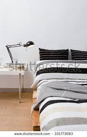 Pallet Platform Bed Diy Workspace Make Pallet Computer Blank Stock Photo 312829982