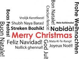 wishing everyone a merry feliz navidad bon natale