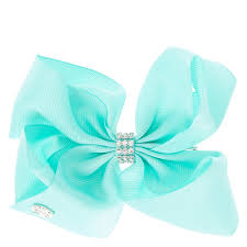 hair bow jojo siwa small rhinestone keeper mint hair bow s