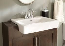 semi recessed bathroom sinks gerber plumbing