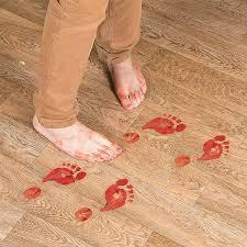 walking dead party supplies bloody footprints floor clings orientaltrading walking