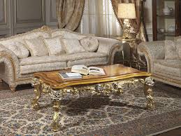 imperial sofa in fabric with carved table vimercati classic