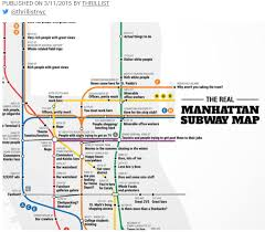 Manhatten Subway Map by Roosevelt Islander Online 3 8 15 3 15 15