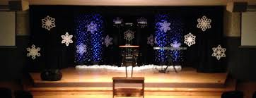 christmas design ideas flakes a falling church stage design ideas