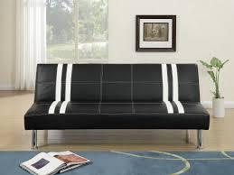 Faux Leather Futon Poundex F6822 Grey Microfiber Futon Adjustable Sofa Bed