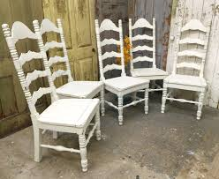 ladder back dining chairs white wooden chairs shabby chic chairs