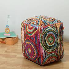 lr resources multi color accent pouf poufs08121mltffpl the home