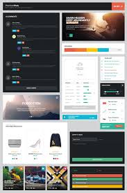 25 sets of ui design for web free psd webpage element template